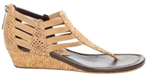 Donald J. Pliner Natural Snake embossed cork Sandals