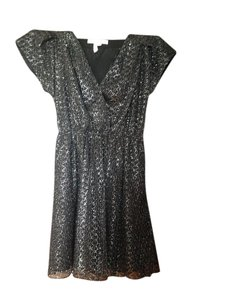 BCBGeneration short dress Black and silver on Tradesy