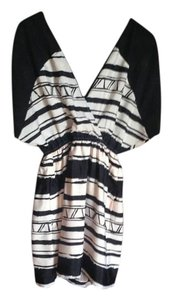 BCBGeneration short dress Black and beige on Tradesy