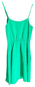J.Crew short dress Bright green on Tradesy