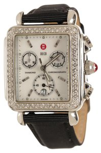 Michele Stainless Michele Stainless Steel and Diamond Deco Watch