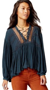 Free People Don't Let Go Boho Peasant Sz Sm/runs Generous Top