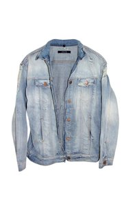 J Brand Distressed Light Blue Womens Jean Jacket