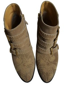 Chloé Suzanne Studded Ankle Taupe Boots