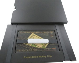 THE GRAND BAND THE GRAND BAND MONEY CLIP GB1800/SL I DO SILVER ANNODIZED ALUMINUM ANODIZED