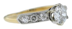Other Antique Estate 18K Gold 0.71ct Old Mine Brilliant Diamond Engagement Ring Size 5
