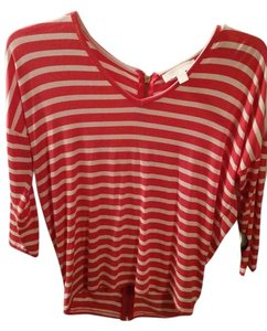 Michael Kors Stripes Top pink and white