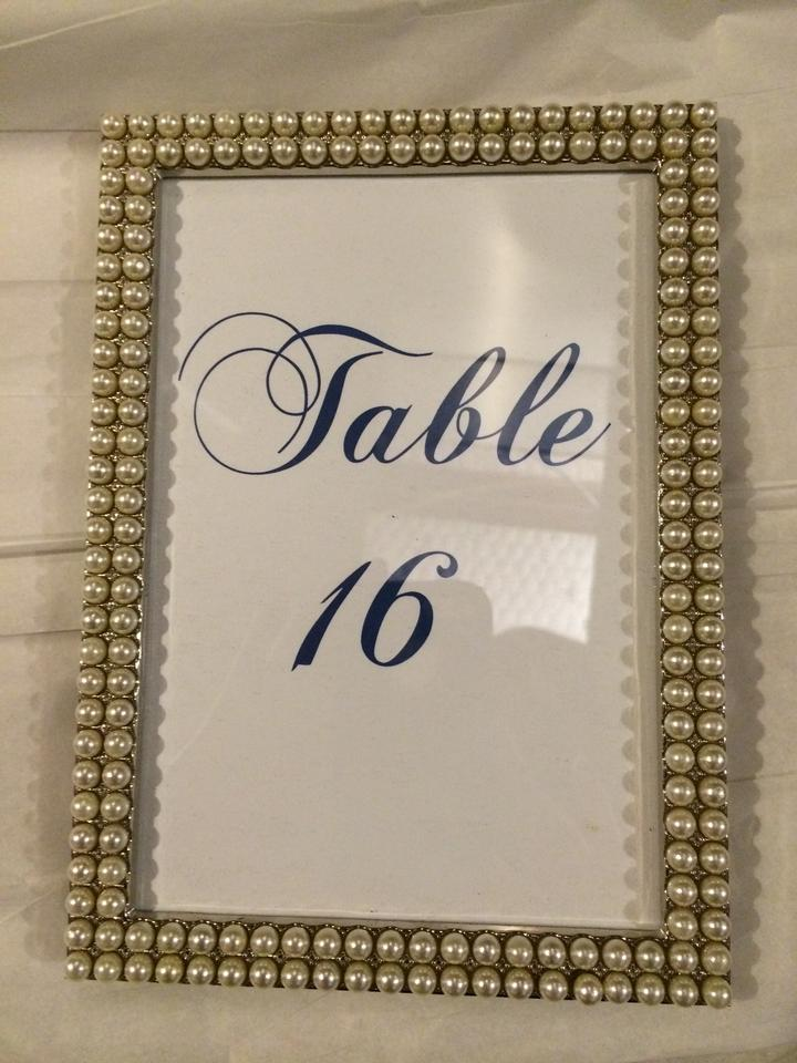 pearl 17 4x6 table numbers 5 4x6 and rhinestone frames reception