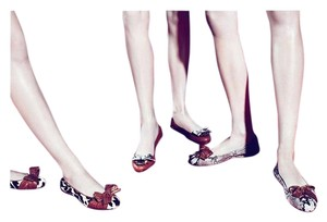 Miu Miu Prada Crystals Black, Whie, Red Flats