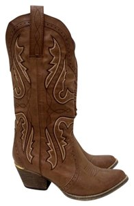 Very Volatile Western Taupe Brown Cowboy Cowgirl Stone Boots