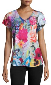 Ted Baker Floral Date Night T Shirt Fuchsia