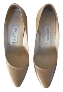 Jimmy Choo Leather Nude Pumps