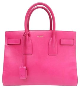 Saint Laurent Sac De Jour Ysl Designer Luxury Satchel in Pink