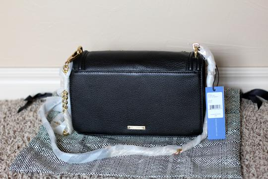 Rebecca Minkoff Leather Gold Hardware Detachable Strap Studded Chain Leather Strap Cross Body Bag