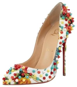Christian Louboutin White and multi Pumps