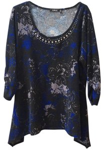 ELEMENTZ Woman Top Black, gray and blue