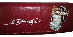 Ed Hardy Red Clutch