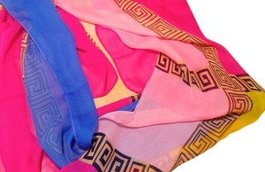 Other New Chiffon Summer Scarf Pink Blue Yellow Light Sheer P2124