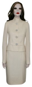Valentino VALENTINO CREAM WOOL JACKET & SKIRT SUIT, FEELS LIKE CASHMERE - ELEGANT AND CHIC! WORN ONCE!