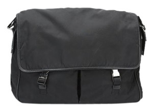 Prada Nylon Mens Black Messenger Bag