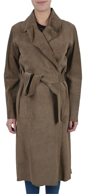 Item - Brown Genuine Leather Belted Women's Coat Size 4 (S)