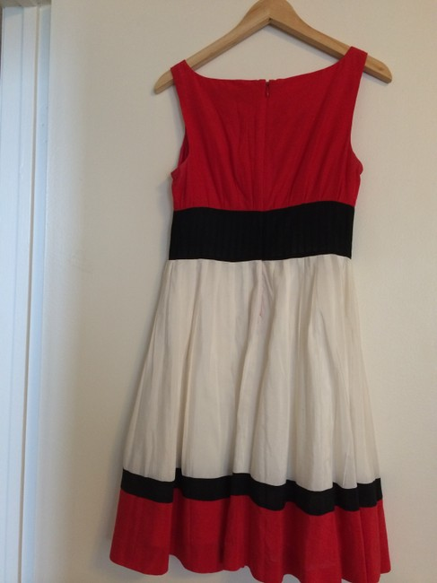 Anne Klein short dress Red, White, Black Colorblock on Tradesy