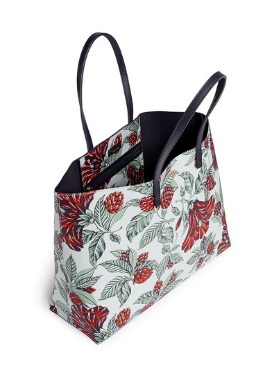 Tory Burch Floral Vintage Large Travel Classic Tote in GREEN multi color Image 2