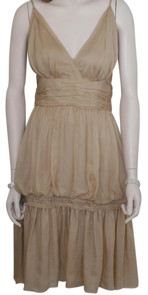 a8ad18c090 Chanel Beige Pc Silk with Matching Shawl Or Scarf Mid-length ...