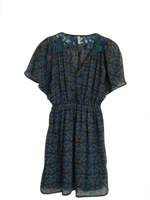 Xhilaration short dress Blue Floral on Tradesy
