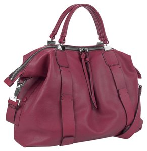 Kooba Joshua Leather Crossbody Satchel in Purple Thistle
