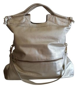 Foley + Corinna Leather Tote in Platinum