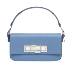 Fendi Baguette Silver Shoulder Bag