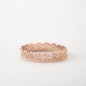 Brand New 14k Rose Gold Grace Lee Lace Band