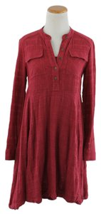 Anthropologie short dress Dark Red on Tradesy