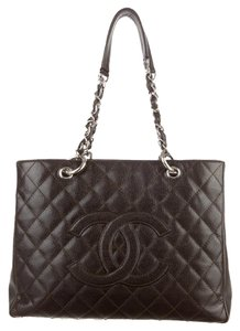 Chanel Gst Grand Shopping Tote in DARK BROWN BLACK