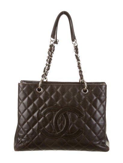chanel dark brown black caviar leather shopping tote tote tradesy. Black Bedroom Furniture Sets. Home Design Ideas