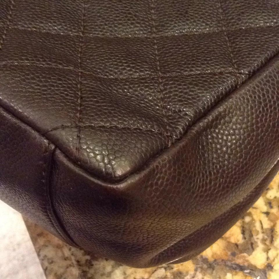 ad785cefcb2f Chanel Grand Shopping Gst Quilted Classic Timeless Dark Brown Black Caviar  Leather Tote - Tradesy