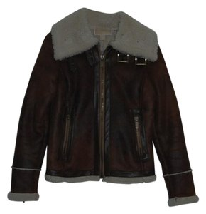 Michael Kors Celine Burberry Leather Brown Leather Jacket
