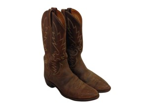 Dan Post Boots Cowboy Leather Distressed Brown Boots