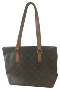 Louis Vuitton Monogram Leather Classic Canvas Tote in Brown