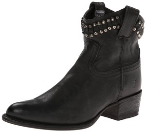 Frye Diana Cut Stud Western Boot Black Boots