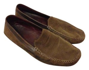 Cole Haan Suede Loafer Driving Loafer Brown Flats