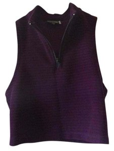 Sparkle & Fade Ribbed Hipster Urban Outfitters High Neck Neck Top purple