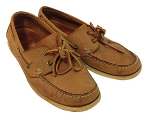 L.L.Bean Boat Dock Siders Tan Flats
