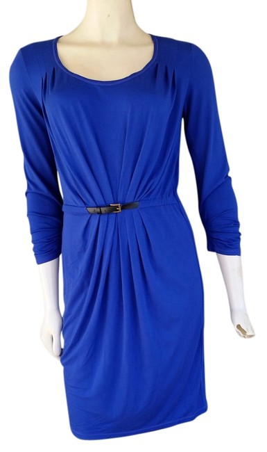 Max Studio short dress Blue Royal Jersey Half Belt on Tradesy