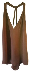 Haute Hippie Womens Chic Top Brown