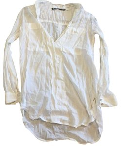 Zara Button Down Shirt White