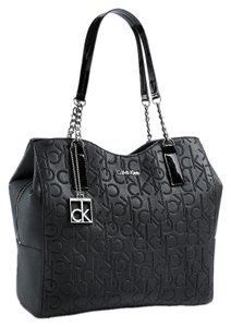 Calvin Klein Faux Leather Shoulder Bag