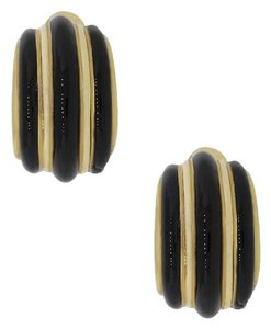 David Webb David Webb 18k Yellow Gold Black Onyx Earrings