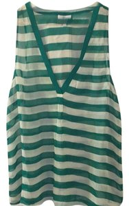 Joie Silk Top Green and white